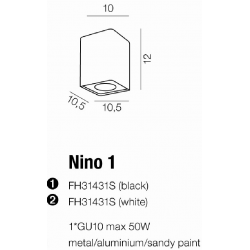 NINO 1 REFLEKTORKI POJEDYŃCZE AZZARDO FH31431S BL/CH