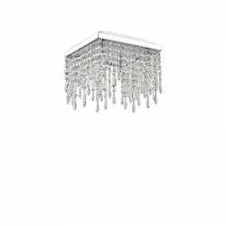 GIADA PL4 098777 TRASPARENTE LAMPA WŁOSKA PLAFON IDEAL LUX