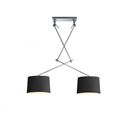 ADAM 2S MD2299-2S BK LAMPA NA WYSIĘGNIKACH CZARNA AZZARDO