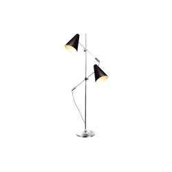 KAJA FL-13054 CZARNY - CHROM LAMPA PODŁOGOWA AZZRADO