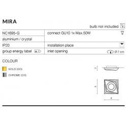 MIRA OCZKO NC1695-G CHROM AZZARDO