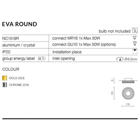 EVA ROUND OCZKO NC1519R-CH CHROM AZZARDO