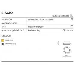 BIAGIO OCZKO WPUSZCZANE NC571-CH CHROM AZZARDO