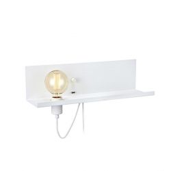 MULTI 106969 LAMPA KINKIET MARKSLOJD Z USB PÓŁKA