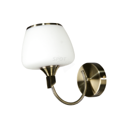 LUTECJA 9150102 LAMPA ŚCIENNA KINKIET ABAŻUR SPOT LIGHT