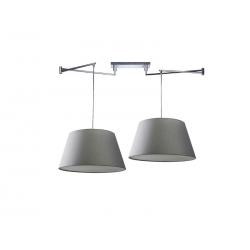 NATALIA 2 S GREY MD2238-2S-GR LAMPA SUFITOWA PENDANT AZZARDO
