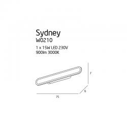 SYDNEY KINKIET LED W0210 MAXLIGHT