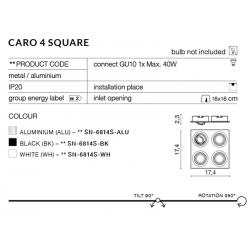 CARO 4S SSN-6814S-BK OPRAWA WPUSZCZANA W SUFIT AZZARDO