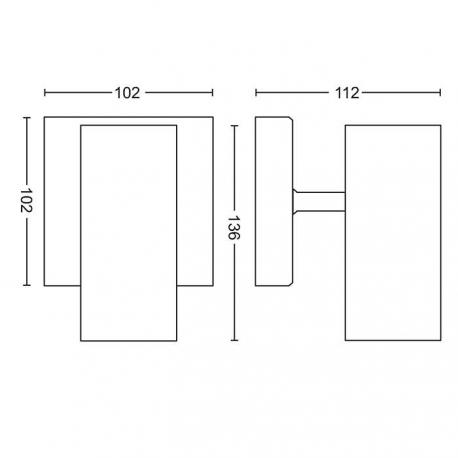 BURATTO 1L REFLEKTOR POJEDYŃCZY LED HUE 50461/31/P8 PHILIPS
