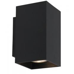LAMPA WEWNĘTRZNA (KINKIET) ZUMA LINE SANDY WL SQUARE WALL 92698 BLACK