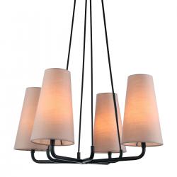 PRIMO LAMPA WISZĄCA MDM-3545/4 BK+LIGHT GR ITALUX