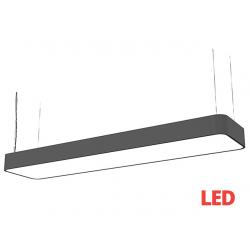 SOFT LED graphite 90x20 zwis 9542 lampa wisząca nowoczesna Nowodvorski Lighting