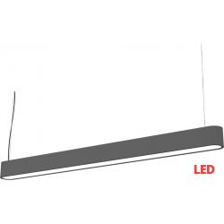 SOFT LED graphite 120x6 zwis 9543 lampa wisząca nowoczesna Nowodvorski Lighting