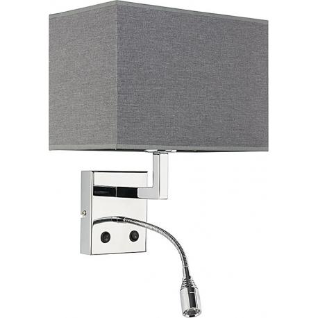 HOTEL LED grey kinkiet szary abażur 9302 Nowodvorski Lighting