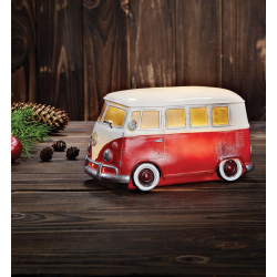 NOSTALGI VW BUS CZERWONY 703954 DEKORACJA OŚWIETLENIOWA LED MARKSLOJD
