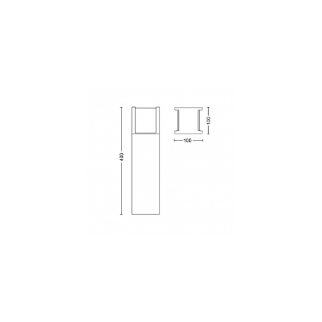 FUZO 17447/30/P7 1744730P7 2700K 15W LAMPA ZEWNĘTRZNA STOJĄCA PHILIPS HUE