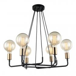 BETTY LAMPA WISZĄCA MDM-3901/6 BK+BRO ITALUX