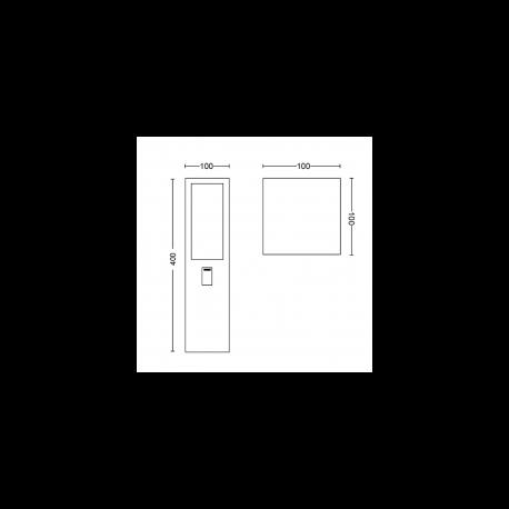 IMPRESS 17454/30/P7 LAMPA ZEWNĘTRZNA STOJĄCA PHILIPS HUE + ZASILACZ