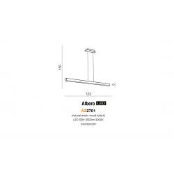 ALBERO AZ2701 LAMPA WISZĄCA LED AZZARDO