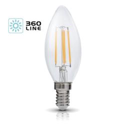Żarówka LED E14 FSW 4W barwa 3000K 360 Line KOBI