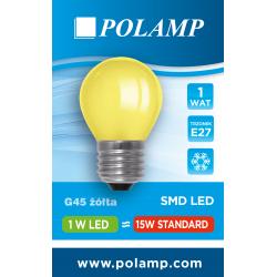 Żarówka LED G45 E27 1W żółta 5902811503747 POLAMP