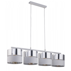TK LIGHTING LAMPA WISZĄCA HILTON SILVER 4177