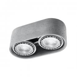 SOLLUX LAMPA NATYNKOWA/PLAFON BASIC 2 beton SL.0882
