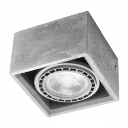 SOLLUX LAMPA NATYNKOWA/PLAFON QUADRO 1 beton SL.0883