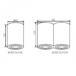 BORD DLP-250-W LAMPA NATYKOWA KANLUX 22554