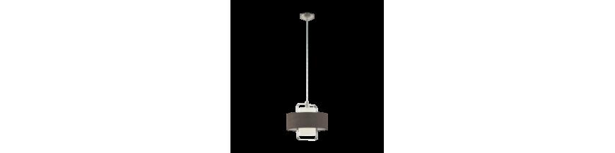 Lampy abażurowe wiszące: sufitowe z abażurem   LunaOptica.pl
